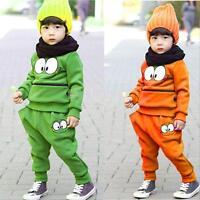 2PCS Toddler Kids Baby Boys Long Sleeve Outfit Set Sweatshirt Tops Blouse+Pants