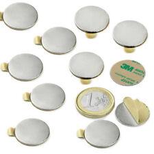 10 Imanes de Neodimio Adhesivos redondo Ø 20 x 01mm Discos magnético Fuerza 1Kg.
