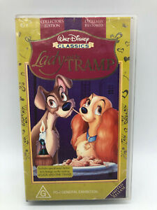 Lady and the Tramp - Walt Disney Classics -  VHS PAL Video - Free Shipping