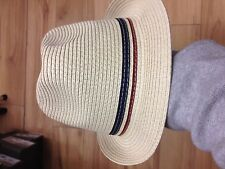 fred perry straw hat. LARGE