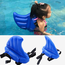 Inflatable Shark Fin Swimming Ring Learning Pool Aid Floats Buoy Kids Child Back