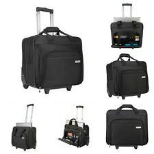 Wheeled Laptop Case Rolling Notebook Briefcase Waterproof Polyester Carry Bag
