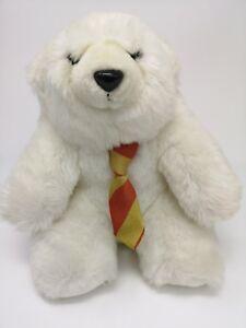 """* Vintage White Polar Ford Polar Bear with tie 9"""" high (d4a)"""
