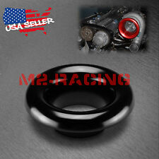 "3.5"" Black Short Ram Cold Air Intake Turbo Horn Aluminum Velocity Stack Adapter"