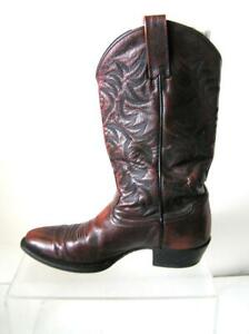 Mens Ariat Western leather Tooled double Stitched cowboy boots size 8.5 D
