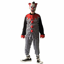 Adult Zombie Unisex Halloween Gothic Horror Scary Clown IT Costume + Mask