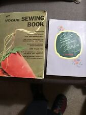 2 Vntg Sewing Books Smart Fashion Stitches By Singer And Vogue Sewing Book