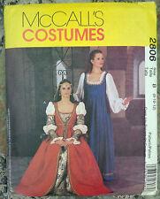 McCall's Disfraz patrón 2806 8 -12 Sin Cortar-Medieval Tudor larp fantasía de Teatro