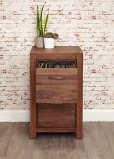 Mayan Solid Walnut Dark Wood 2 Drawer Filing Cabinet