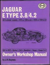 JAGUAR E TYPE,3.8,4.2,SERIES 1,2,3 COUPE,2+2,ROADSTER,HAYNES MANUAL 1961-1972