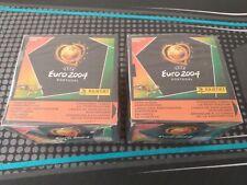 PANINI UEFA EURO PORTUGAL 2004 STICKERS-2 X SEALED BOXS-100 SEALED PACKETS.