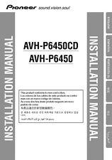 Pioneer AVH-P6450CD AV Receiver Owners Manual