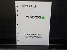 YAMAHA  YFM125S       SERVICE MANUAL SUPPLEMENT  (Y262)