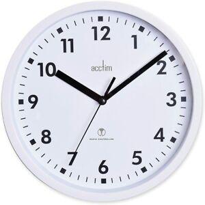 Acctim Nardo 20cm Radio Controlled White Wall Clock 74662