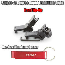 Sniper 45 Degree Flip-up Front And Rear Rapid Transition Sights