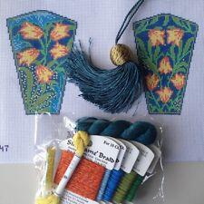 Hand painted Needlepoint Canvas scissor case Kit William Morris Harebell W & G