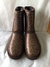 UGG Classic Short Boots Glitter  Bronze Size Women 8