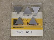 Qty (5) Kennametal TPG433 K45 TPGN 220412  Carbide Insert