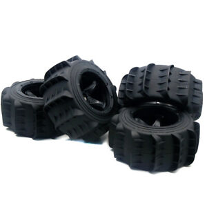 Front and Rear Tire  Sand Wheel Tire Set Fit 1/5 RC HPI Baja 5B