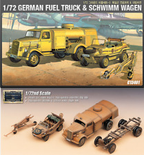 Academy #13401 1/72 Plastic Model Kit GERMAN FUEL TRUCK & SCHWIMM WAGEN