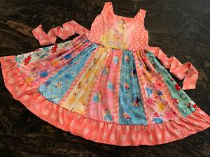 TODDLER & LITTLE GIRLS DISNEY PRINCESSES & FRIENDS TWIRL PARTY DRESS VERY CUTE!!