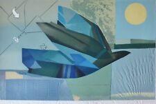 "MAX PAPART  ""Royal bird"" HAND SIGNED ORIGINAL Carborundum/Collage Lithograph XXL"