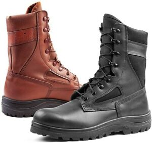 Mens Army Combat Military Boots SECURITY WORK POLICE  / BLACK 9550 & BROWN 9551