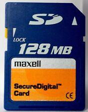 Maxell 128MB SD memory card.