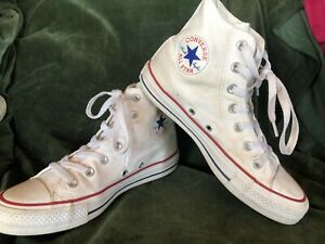 WHITE CONVERSE CHUCK TAYLOR ALL STAR HIGHTOP SNEAKERS US SIZES MEN'S 5 WOMEN'S 7