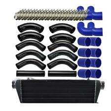 "Universal 12pcs 2.5""Blue Coupler + Black Piping + Intercooler Kit+T-Bolt Clamps"