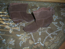 NIB TRENDY SHARP  MATTISSE BROWN SUEDE SLOUCH WEDGE Boot STYLE WOMENS Size 8M