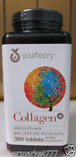 youtheory Collagen Advanced Formula Type 1,2,3 with 18 Amino Acid.390 Tabs x 3