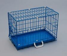"New BestPet 20"" Blue BestPet Folding Suitcase Dog Crate Cat Cage with Metal Pan"
