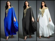 Multi Color Dubai Moroccan Style Kaftan Farasha Jalabiya  Abaya Bell Sleeve Wear