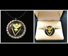 Pokemon Go Team Instinct Necklace And Ring Jewelry Set