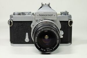 Nikkormat FTN with Spiratone 28mm F2.8 and Case!