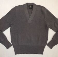 $395 RRL Double RL Ralph Lauren 100% Wool V Neck Long Sleeves Ribbed Sweater XS