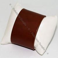 Bracciale Pelle Uomo Donna 5 cm Su Misura Cuoio Artigianale Polsino Polsiera