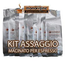 Caffè macinato per espresso Kit assaggio 8 x 500 gr - Caffè macinato Monorigine