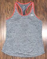 Adidas Climalite Activewear Tank Top Women's Medium Gray Athletic Shirt EUC