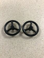 Lot of (2) Ertl Current Style Black Metal Steering Wheels 1/16