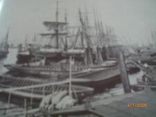 Hamburg - alte Fotografien - Niederhafen 1888, Jonashafen und Quaispeicher 1887