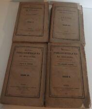 1835 Œuvres Philosophiques de DESCARTES notices par Adolphe GARNIER EO 4 Vols