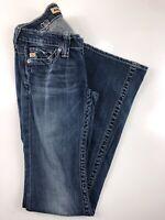 "Big Star Sweet Ultra Low Boot Med Wash Women's Jeans 25L. 25x33x7x18""."