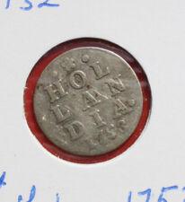 Niederlande: 2 Stuiver Silber 1753, Province Holland (Hollandia), #F 2509, VZ-XF