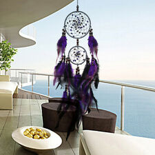 Purple Feather Dream Catcher Feathers Wall Hanging Home Car Decor Ornament