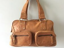 TOMMY & KATE real leather ladies chestnut underarm tote handbag
