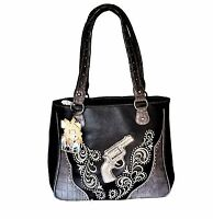 Montana West Dual Sided Concealed Carry Purse Western American Bling Handbag
