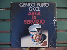 LP introvabile di Genco Puro & Co. AREA DI SERVIZIO (1972 BlaBla) con F.Battiato