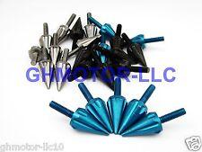ZX10R ZX12R ZX6 ZZR600 ZX7 EX250 EX500 250R FZ16 SPIKE BLUE FAIRING BOLTS SCREWS